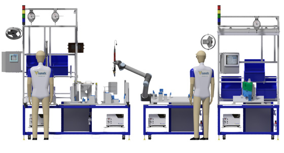 Cobot Workstation Performs Automated Fastening on Assembly Line